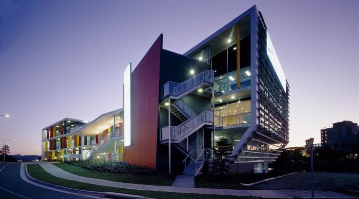 Contemporary building point office building strata for Modern industrial building design
