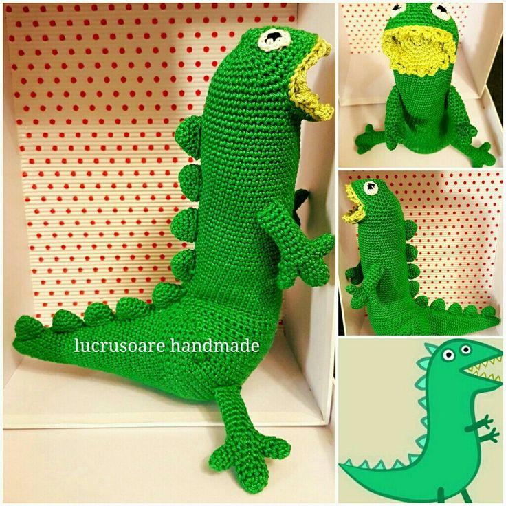 Crochet amigurumi toy Dinosaur George Peppa pig handmade gift #amigurumi #crochet #handmade #dinosaur