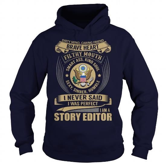 Story Editor - Job Title #funny tshirt #navy sweater. SAVE  => https://www.sunfrog.com/Jobs/Story-Editor--Job-Title-102585400-Navy-Blue-Hoodie.html?68278