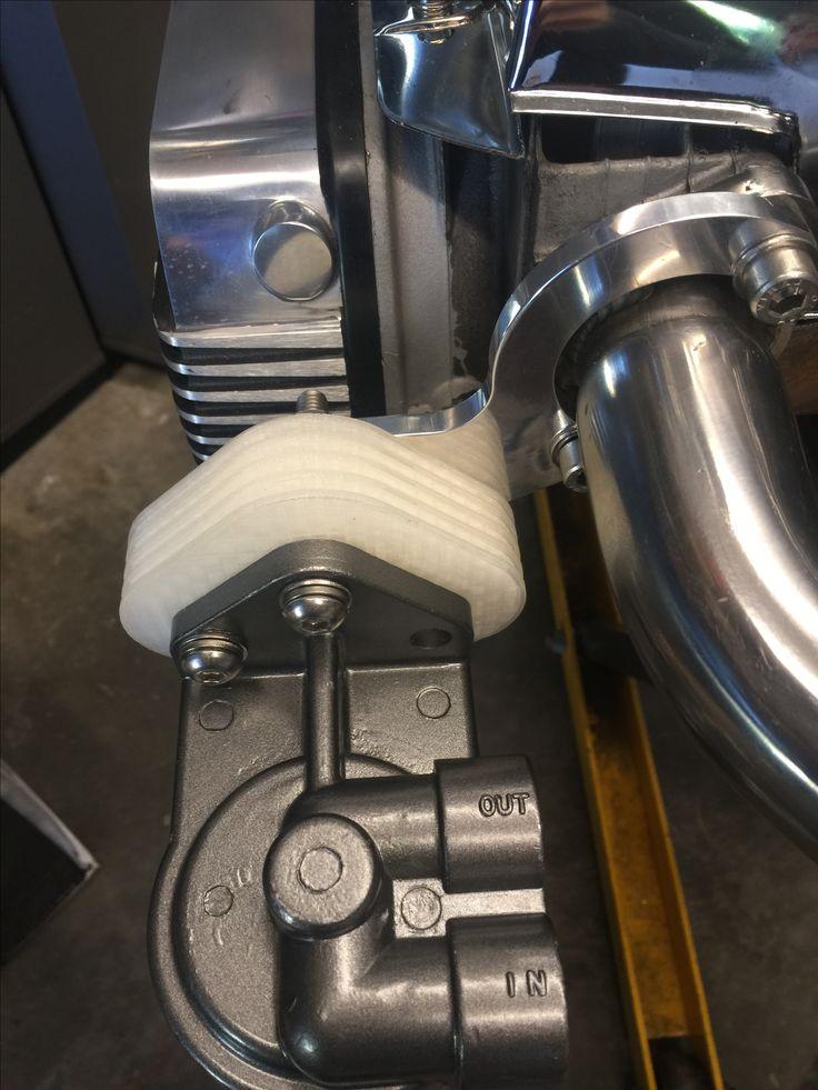 Printed this prototype of oil filter block insulator