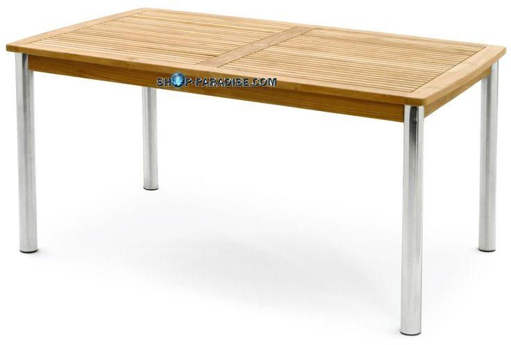 SHOP-PARADISE.COM:  Стол прямоугольный из тикового дерева нержавеющей стали Triodia 550,99 €