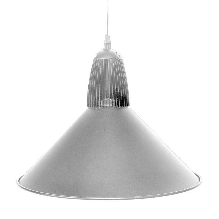 Brilliant 20W DRAKE LED Industrial Metal Pendant - Silver
