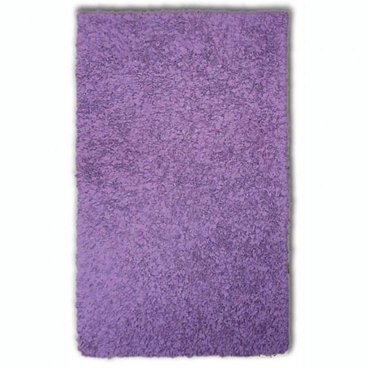 The Rug Market Shaggy Raggy Purple Shag Rug - 02224