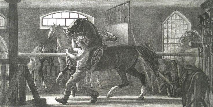 Людмила Томашевская - люди и кони. Вороной конь.