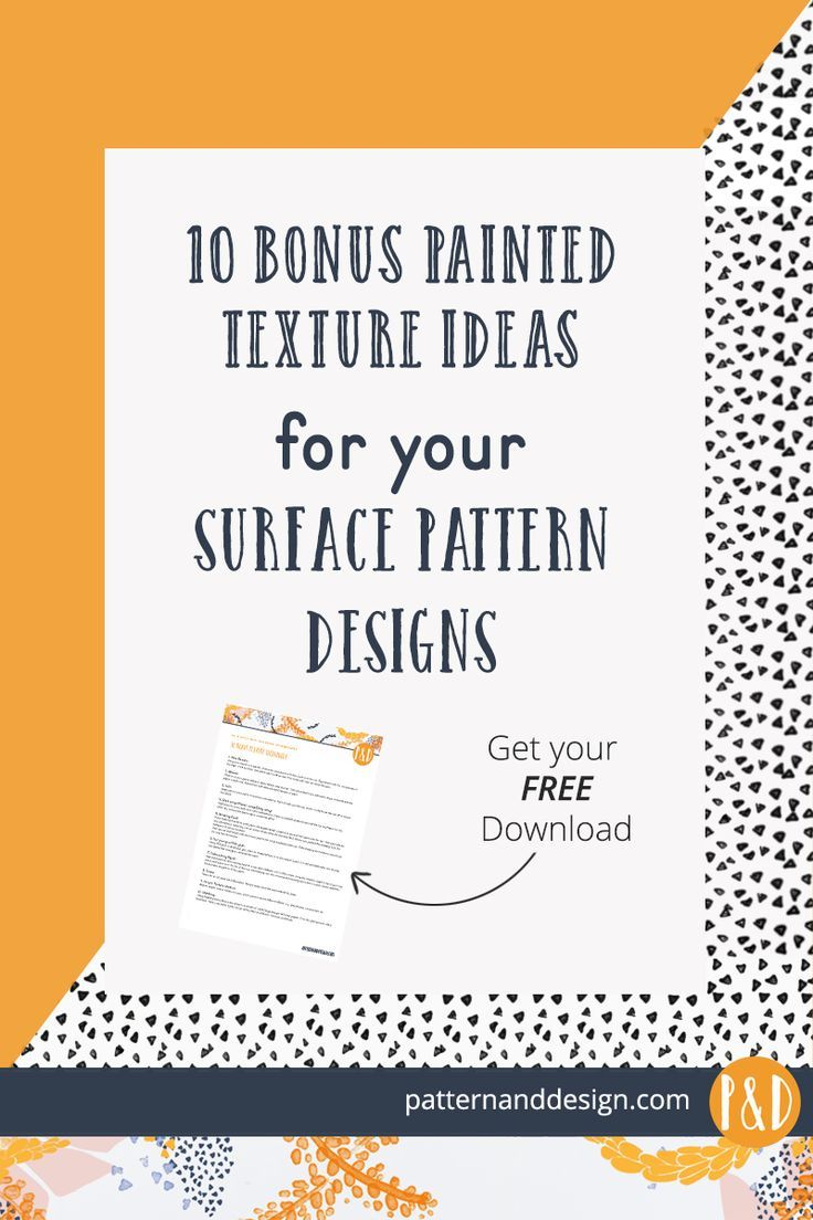 Paint ideas and texture techniques to create interest in your surface pattern designs and textile designs