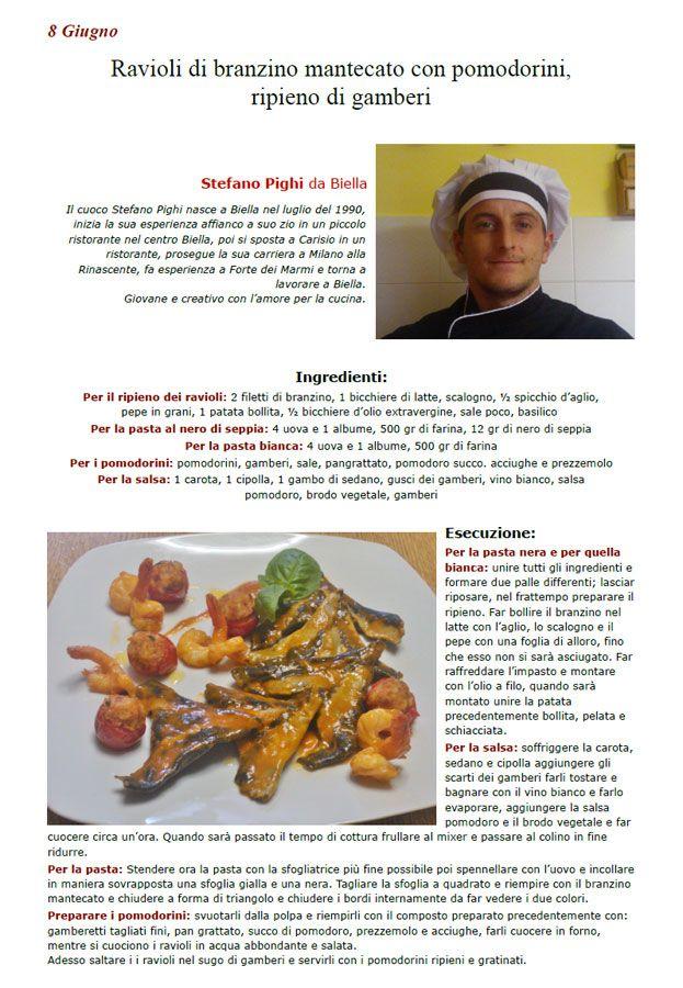 """La Ricetta di oggi 8 Giugno dall'archivio di Ricette 3.0 di spaghettitaliani.com - Ravioli di branzino mantecato con pomodorini, ripieno di gamberi ( Primi - Tortellini, ravioli ) inserita da Stefano Pighi - La ricetta si trova anche nel Libro """"Una Ricetta al Giorno... ...leva il medico di torno"""" prodotto dall'Associazione Spaghettitaliani, per acquistarlo: http://www.spaghettitaliani.com/Ricette2013/PrenotaLibro.php"""