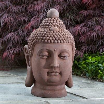 Alfresco Home Buddha Bust Garden Statue - 61-7200