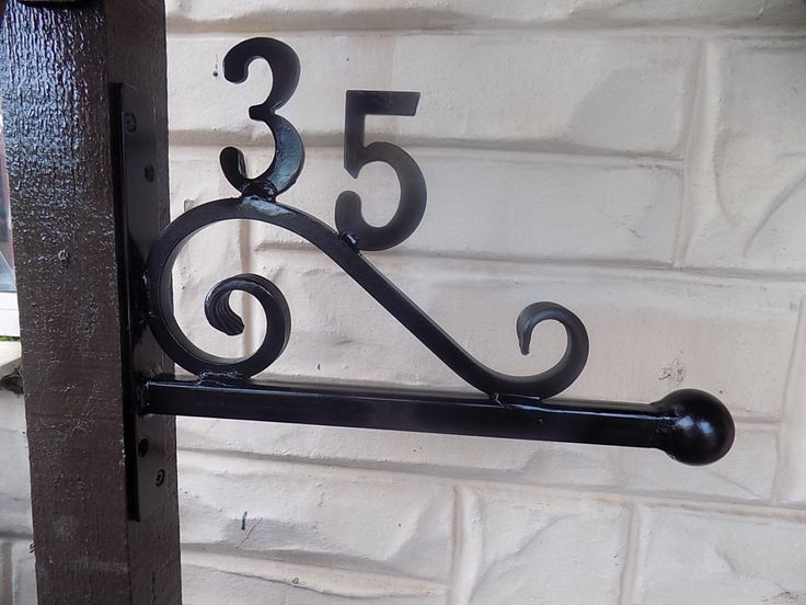 Wrought Iron (Forged Steel) Custom Made House Number / Arm+ by CKMETALCRAFT on Etsy https://www.etsy.com/listing/474048010/wrought-iron-forged-steel-custom-made