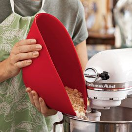 Silicone Mixing Bowl. Pinch to pour...squeeze to fit in a crowded fridge. Brilliant!