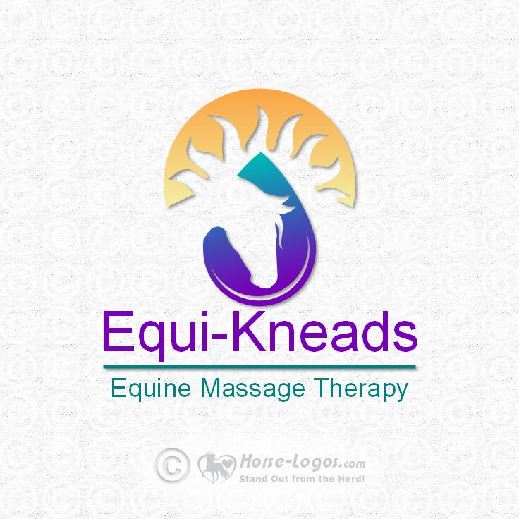 Horse head logo design created by Joni Solis of Horse-Logos.com and purchased by Equi-Kneads. #horse #logo #equine #design #massage