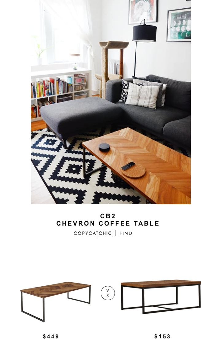CB2 Chevron Coffee Table