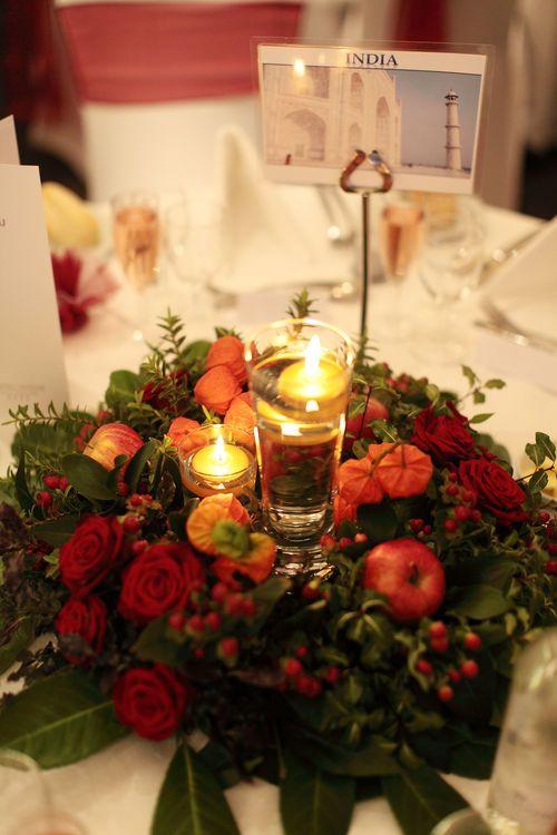 wedding breakfast table setting photograph