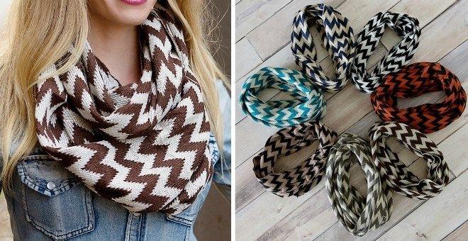 $7.99 Winter Knit Chevron Scarves! | Jane.com