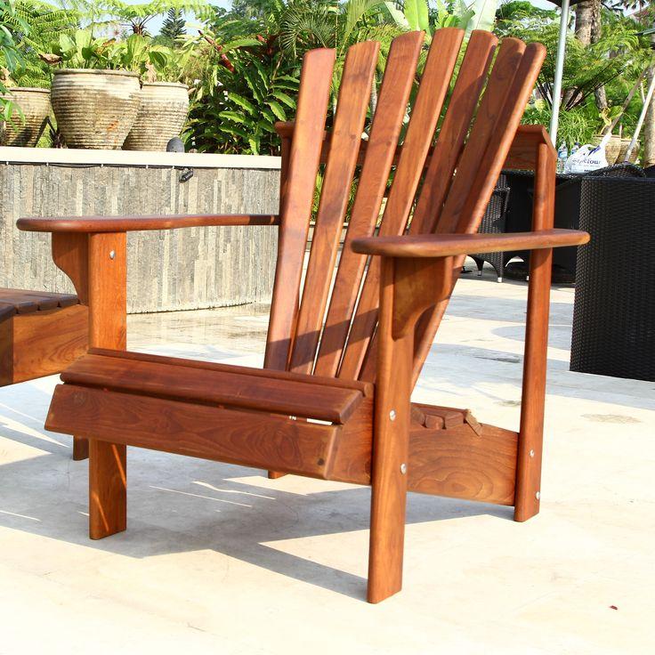 25 best ideas about teak adirondack chairs on pinterest for Teak adirondack chairs design