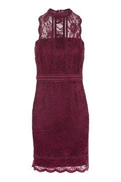 Scallop Mix Lace Bodycon Dress