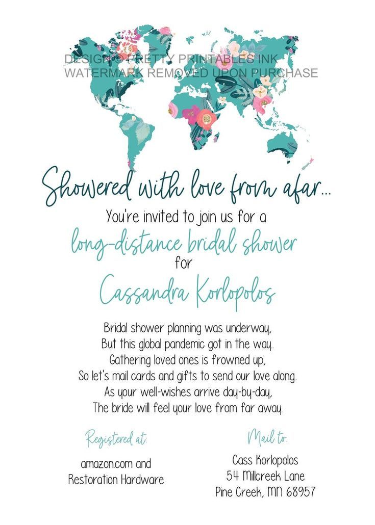 Bridal Shower By Mail Invitation Long Distance Shower By Mail Invitation Map Bridal Shower Invite Virtual Bridal Shower Invite In 2020 Travel Bridal Showers Bridal Shower Bridal Shower Invitations