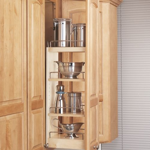 """Rev-A-Shelf Series 448 Wall Pull Out Wood 8"""" 448-WC-8C"""