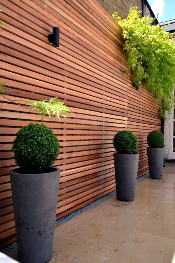 Delightful Outdoor Privacy Screen Ideas Garden Fence Wooden Fence Modern Patio Ideas