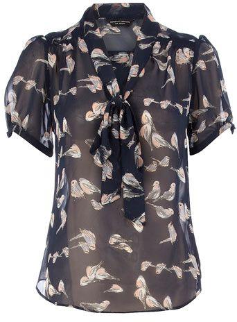 $49: Blouses 49, Perkins Navy, Birds Shirts, Birds Pussybow, Dorothy Perkins, Pussybow Blouses, Navy Birds, Birds Prints I M, Birds Blouses
