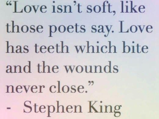 """Citazione di Stephen King che spiega perfettamente il concept dietro """" Come back to me"""""""