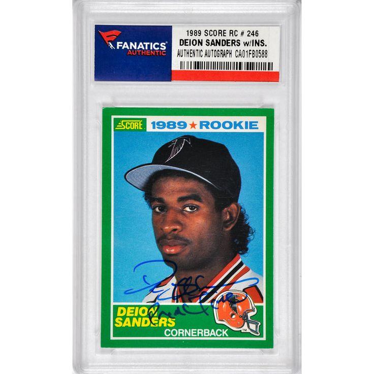 Deion Sanders Atlanta Falcons Fanatics Authentic Autographed 1989 Score #246 Rookie Card with Prime Time Inscription