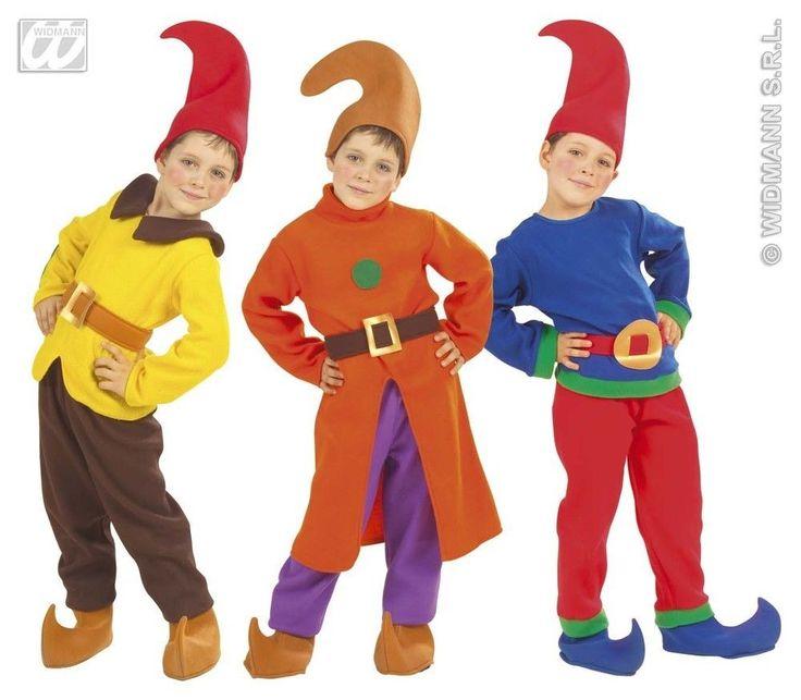 Kinder Kostüm Zwerg Anzug und Zwergenmütze