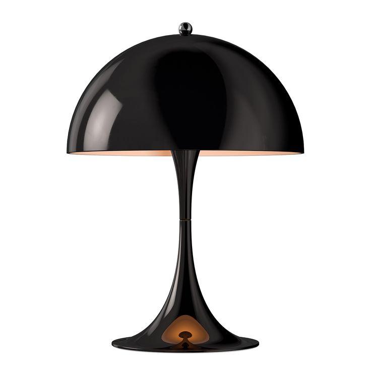 Panthella Mini Table Lamp, Black, Louis Poulsen