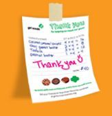 Girl Scout Cookies receipts, thank you cards, booth signs and other templates.