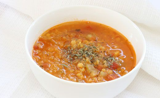 Epicure's Lentil Soup - hearty and satisfying!  Calories 160