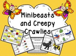 Understanding the World- learn about minibeast parts, habitats and life cycles with these fun investigations and activities!