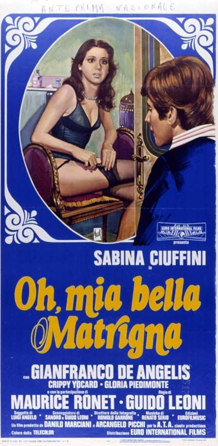 Oh, mia bella matrigna ,1976 Italy , by Guido Leoni .  Lalla (Sabina Ciuffini 26-y) and her stepson Claudio (Gianfranco De Angelis 23-y) want to get rid of respective husband and father.