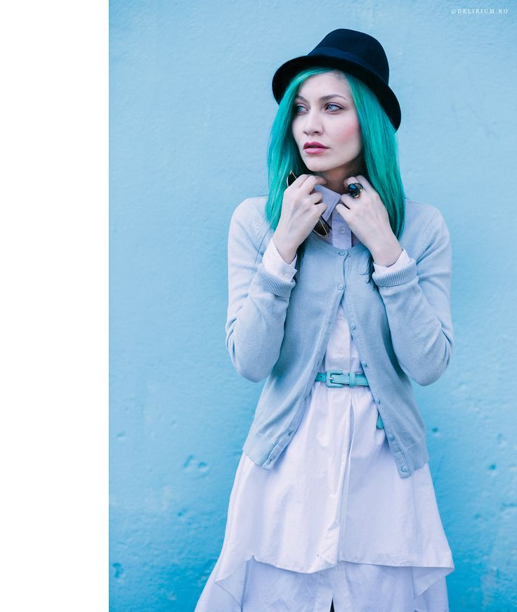 by Andreea Retinschi Turquoise Hair