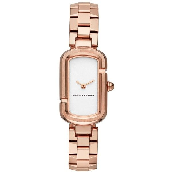 Women's Marc Jacobs 'The Jacobs' Bracelet Watch, 31Mm ($275) ❤ liked on Polyvore featuring jewelry, watches, marc jacobs jewellery, marc jacobs, bracelet watch, white dial watches and letter jewelry