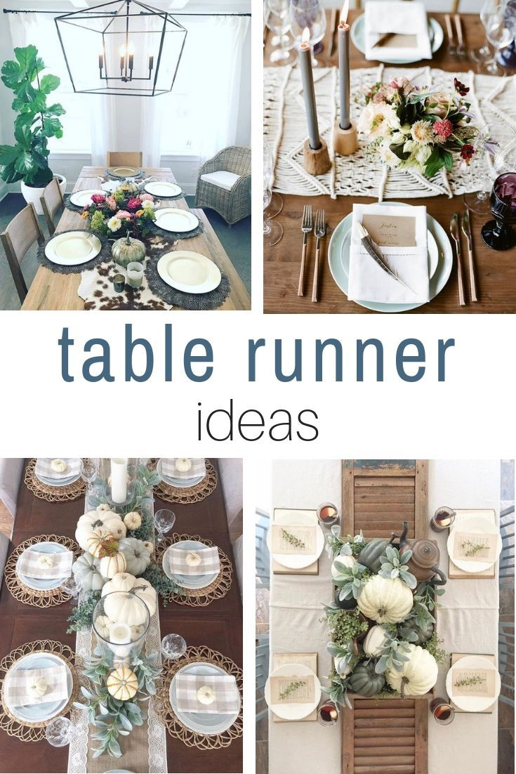 When A Fall Table Runner Is Stunning | Farmhouse table runners ...