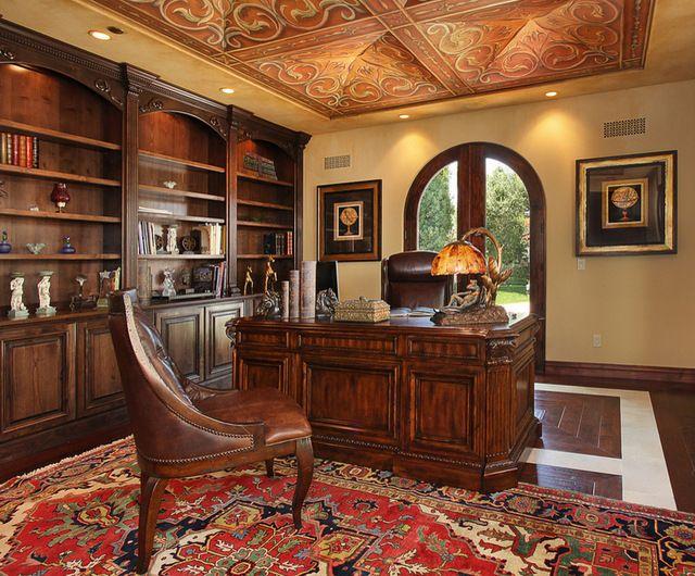 Amazing Mediterranean Home Office | Mediterranean Home Office By Von Hemert  Interiors