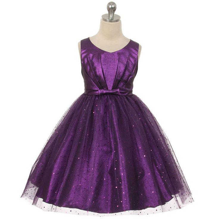 PURPLE Flower Girl Dress Bridesmaid Formal Wedding Birthday Party Pageant Dance #PrivateLabel #FormalRecitalBirthdayGraduationEasterBridesmaidChristmasDressyEverydayHolidayPageantPartyWeddingHomecomingBallDanceProm