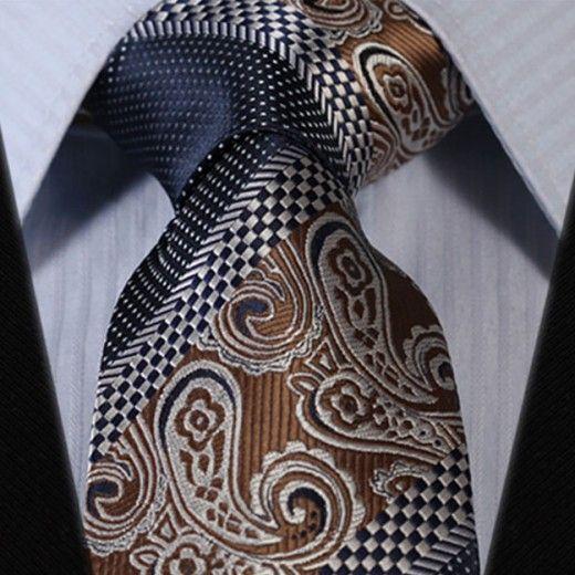 Hodvábna kravatová sada - kravata a vreckovka - vzor 32