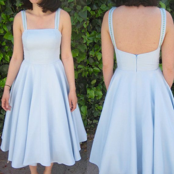 1950s dress / 50s dress/ pinup dress / fit and flare/ swing dress / circle skirt / midi dress / retro dress