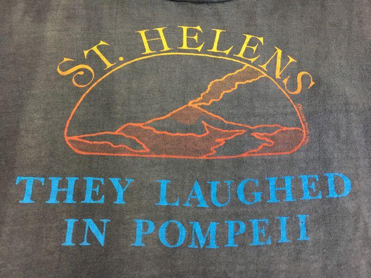 Mt. St. HELENS 1980 Shirt/ 80's Pompeii Volcano Cool Fading Thick Vintage Washington Tshirt Ash Historical 1980s Eruption Lava Iconic Tee XL by sweetVTGtshirt on Etsy