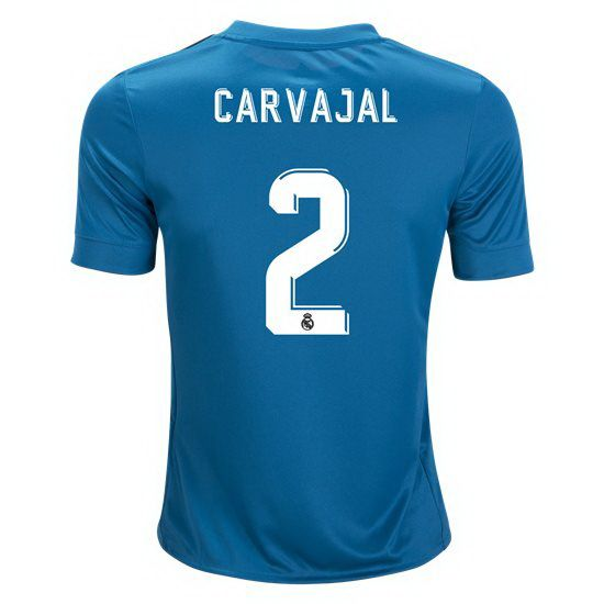 bc9eacda750 2017 Dani Carvajal Jersey Number 2 Third Youth Real Madrid Soccer ...