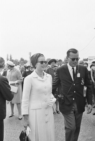: Princess Grace and her brother and husband at the Henley Regatta in London 1963