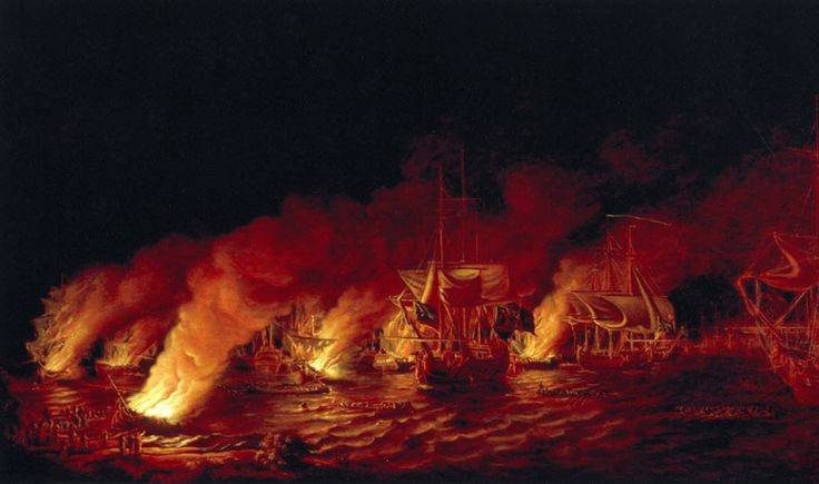 The Defeat of the French Fireships attacking the British Fleet at Anchor before Quebec - Battle of the Plains of Abraham - Wikipedia, the free encyclopedia
