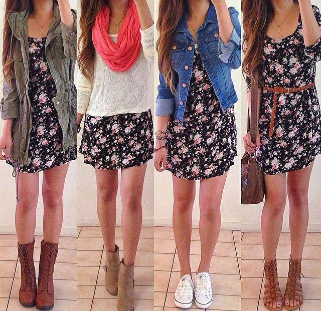 Um vestido: quatro looks!<3