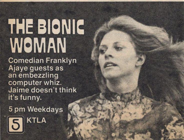 1978 KTLA TV AD~FRANLYN AJAYE GUESTS on THE BIONIC WOMAN~LINDSAY WAGNER