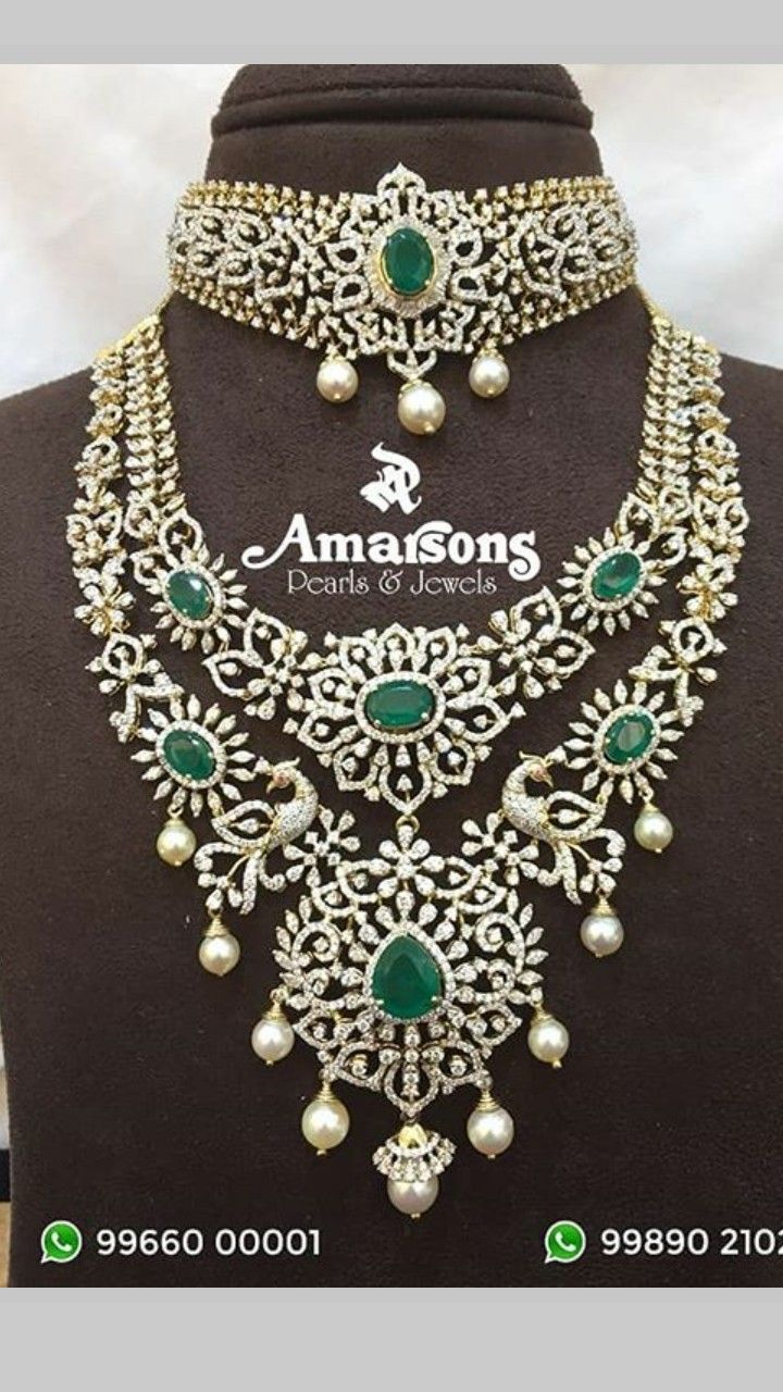 5fe80580455d7 Pin by Lohitha KasiReddy on Diamonds   Diamond jewelry, Emerald ...