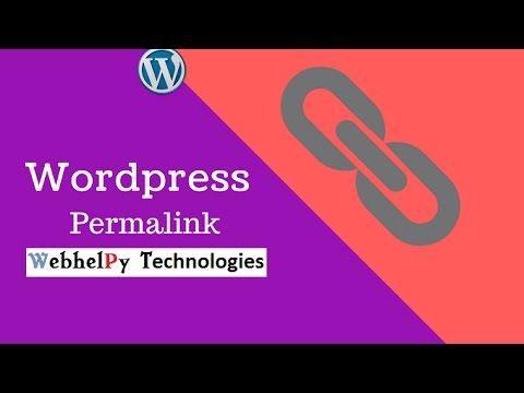 how to set permalink in wordpress website   WordPress Permalink Settings...
