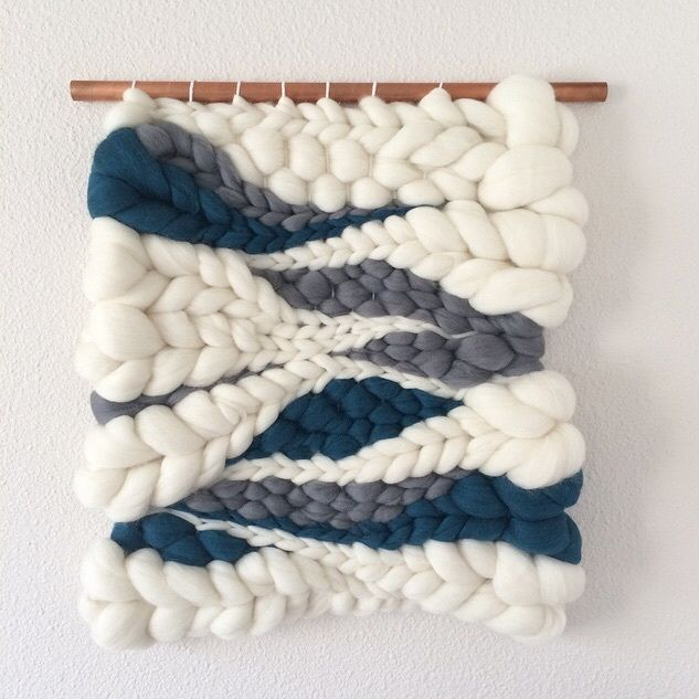 Woven wool wall hanging // weaving by Jeannie Helzer @jeanniemakes