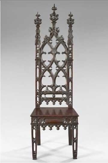 Gothic chairs | ... chair retains. The pierced stiles on this chair are