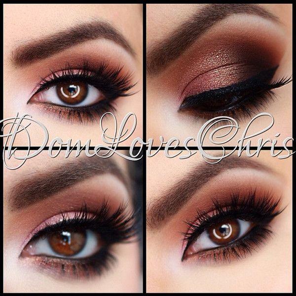 love this warm looking smokey eye makeup