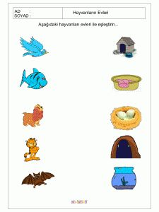 free printable matching animals to their home worksheet (1)